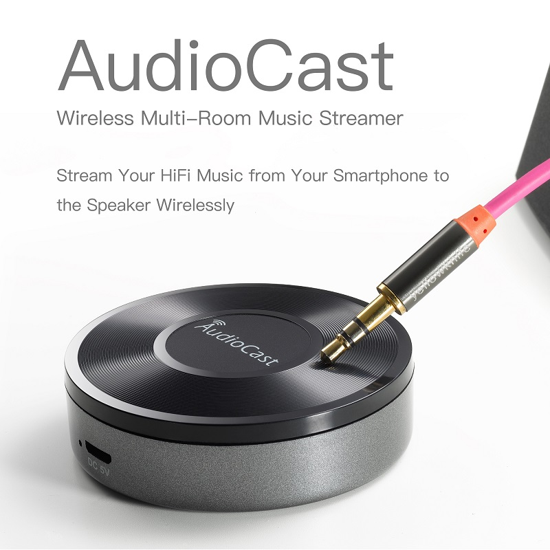 Acemax M5 Wifi Wireless Music Adapter Audiocast Supporting Dlna Airplay  Spotify Iheartradio Stream Audio To Speaker Systems - Buy Audiocast,Airplay
