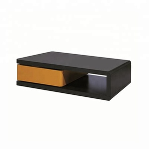 hot selling long MDF sofa table with rotating storage drawers