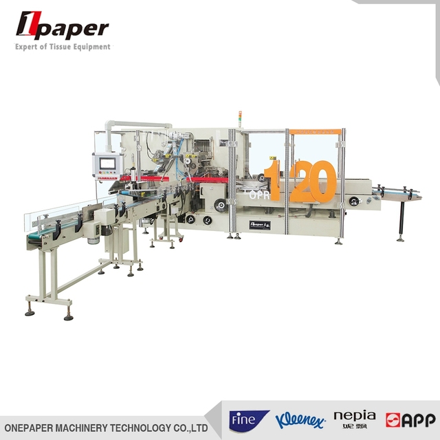 OPR-120B automatic flow tissue paper packing machine