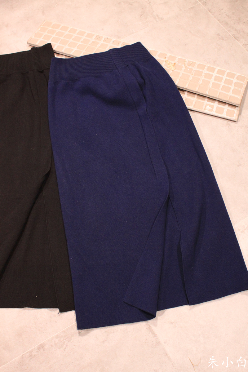 Long Black Knit Skirt 4
