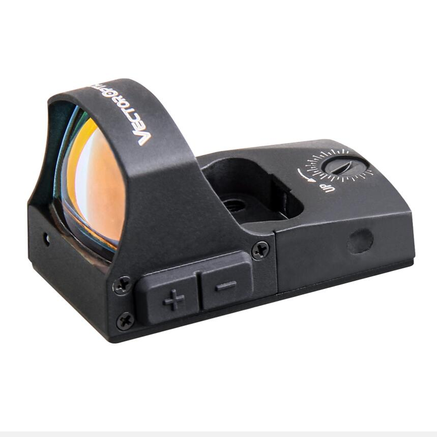 Vector Optics Spirit 1x25 Pistol Glock 17 19 Mini Red Dot Sight 3MOA Dot Size on/off Switch & Auto Light Sense