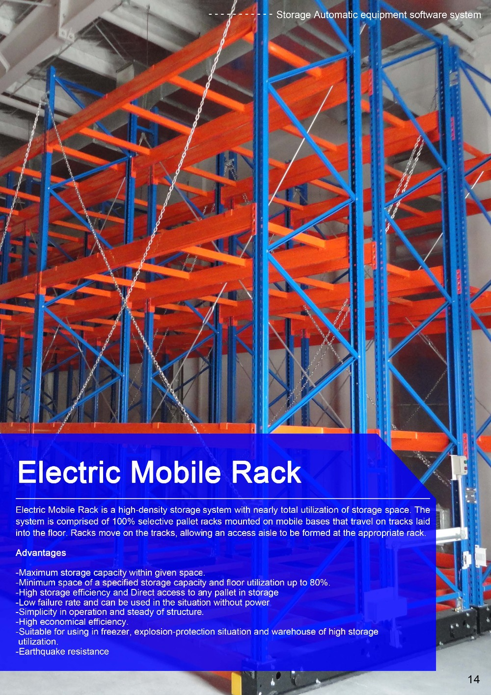 Jracking industrial shelving warehouse electric mobile - Mobel reck ...