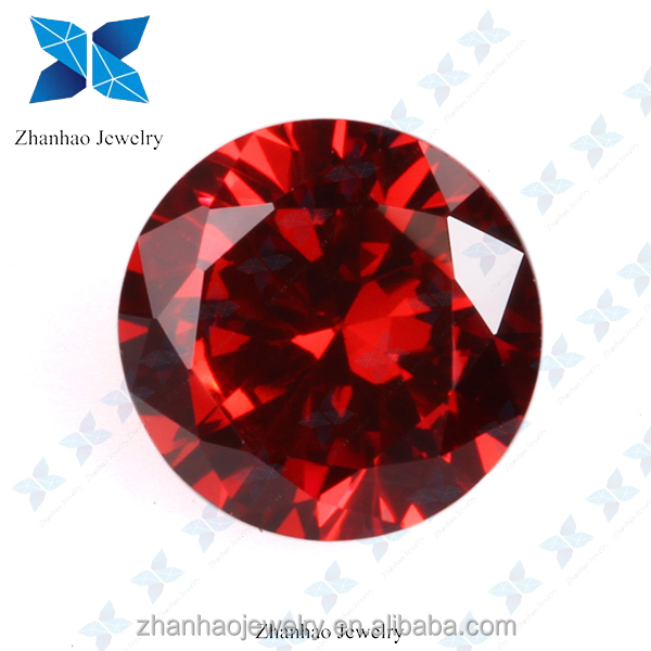 1 carat light garnet color change cubic zirconia for jewelry making