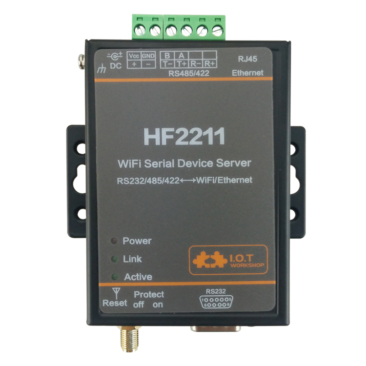 RTU interchange RS422//RS232//485 to Wi-Fi HF-2211 Serial port server ModbusTCP