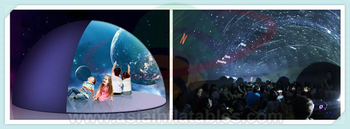 Mini cúpula planetario cine tienda portátil planetario toma la astronomía a la escuela