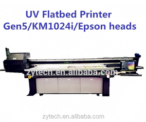 small uv led flatbed printer machine for glass and metel and stone