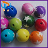 China Supplier Chunky 18MM Star Carving Loose Round Chunky Charming Color Mixed Plastic Beads For Jewelry