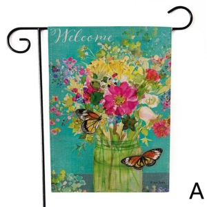 Similar Products Contact Supplier Chat Now! Beautiful to look at burlap garden flag for promotion
