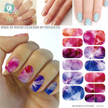 Waterproof nail stickers selling second generation move water make-up nail art decal sticker decorations-free Nail Polish K5721B