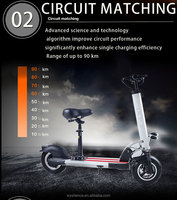 36V Or 48V Lithium Battery Powerful Two Wheel Foldable Electric Scooter Mobility