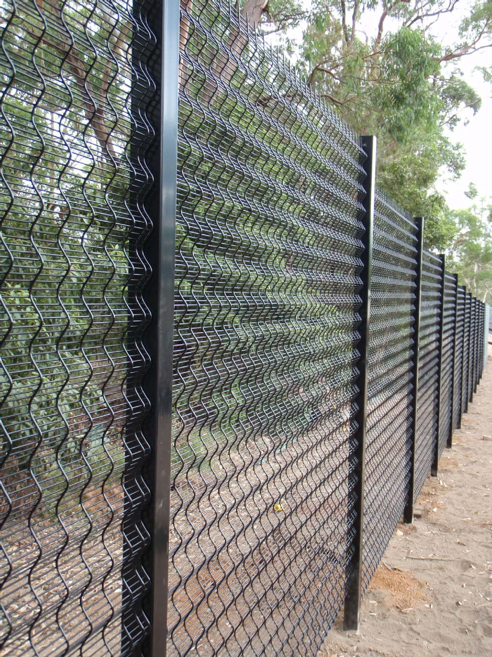 358 Welded Mesh Fence Galvanized Mesh Fence Panels 358