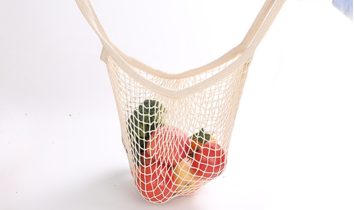 Reusable biodegradable mesh insulated produce grocery small cotton garment drawstring packing jar folding shopping food bags Set