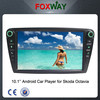 10.1Inch single din skoda octavia car dvd player with car multimedia system/gps navigation/wifi/radio/mp3/mp4 player/usd/sd/ipod