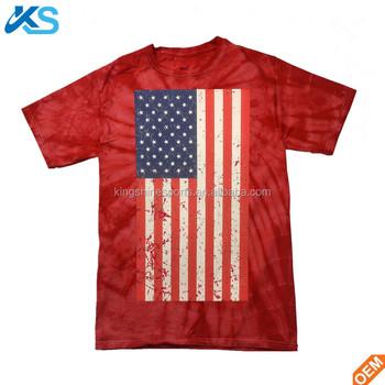 f36d93b850 Unique style Kids printed USA flga Assorted Colors tie dye cotton tshirt