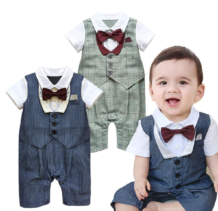 New 2017 Summet Baby Boy Clothes Children Clothing Kids Boys Gentleman Romper 8pieces Lot Hot In Price On