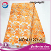 2016 fashion orange nigerian lace fabric high quality african tulle