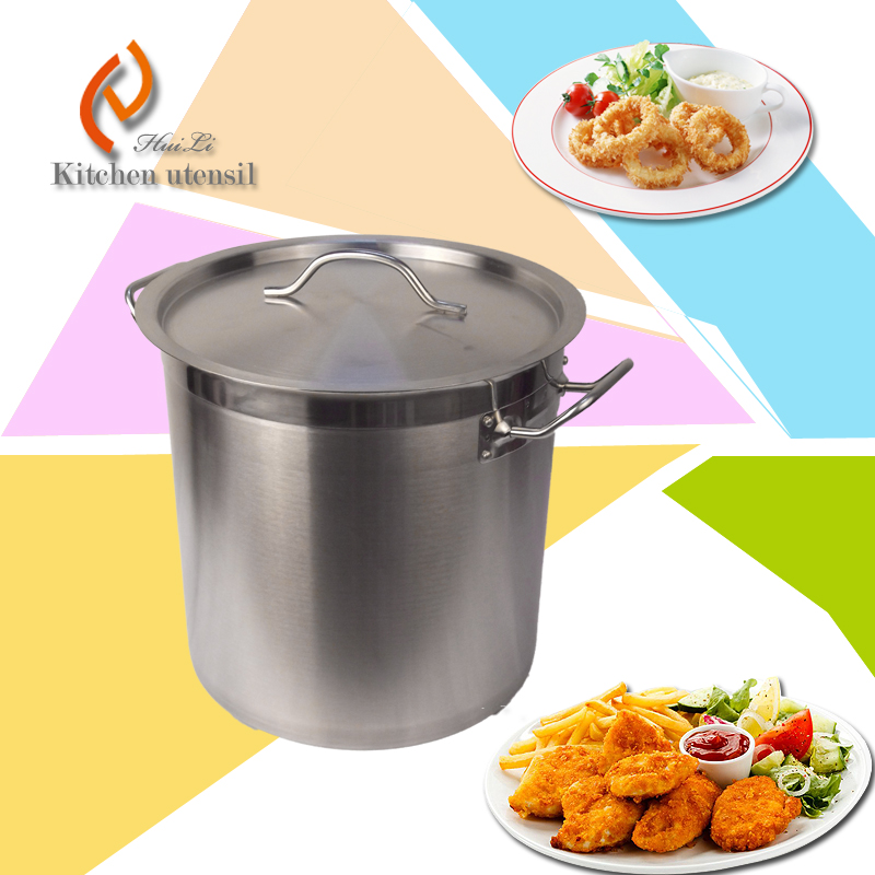 200L high body fashion design thick strength stainless steel cooking pot with composite bottom for hotel restaurant