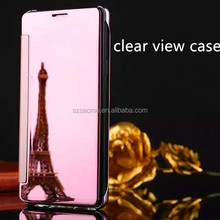 Luxury Clear View Mirror Smart Flip Case for Samsung Galaxy C7 Clear View Case