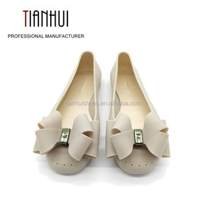 2018 New Style Women Shoe Jelly Flat Shoe With Bow