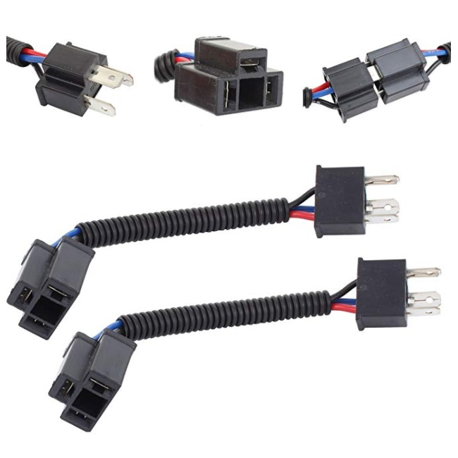 H4 9003 Hb2 12cm(5inch) Extension Auto Wiring Harness For Led Headlight H Wiring Harness on