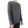 Fashion mens woolen ribs knitting plain grey color casual sweater winter knit sport sweater