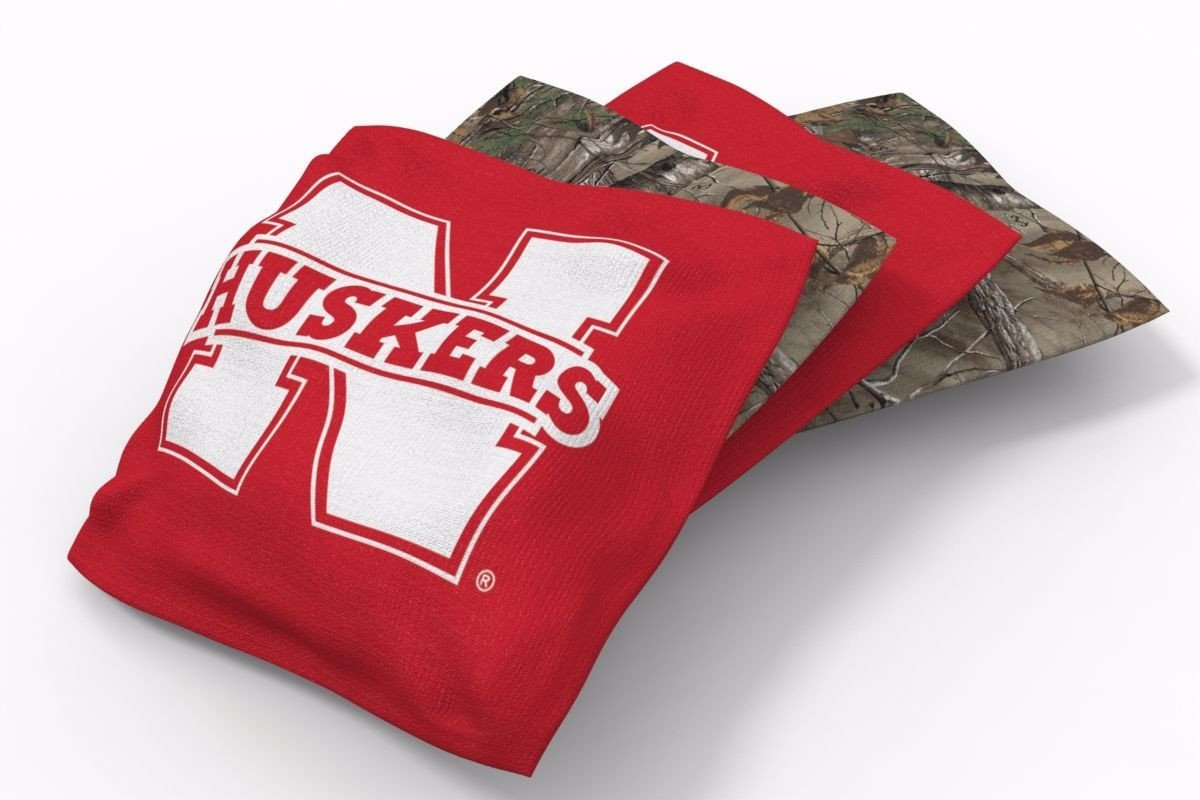 Nebraska Cornhuskers RealTree Camo Bean Bags-4pk (B)