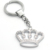 Crown Shape Alloy Keychain with Shinning Crystals