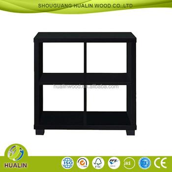 New Design Sale European Style Wooden Bookshelf Square Bookcase