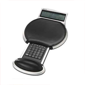 New design World Time Calculator with Leather Mouse Pad , Comfortable Gel Wrist-rest Leather Mouse Pad For Work