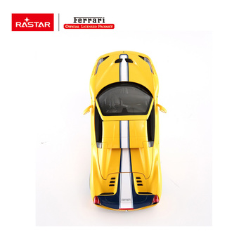 Bright Ferrari car lights electric convertible car strong motor kids toy car