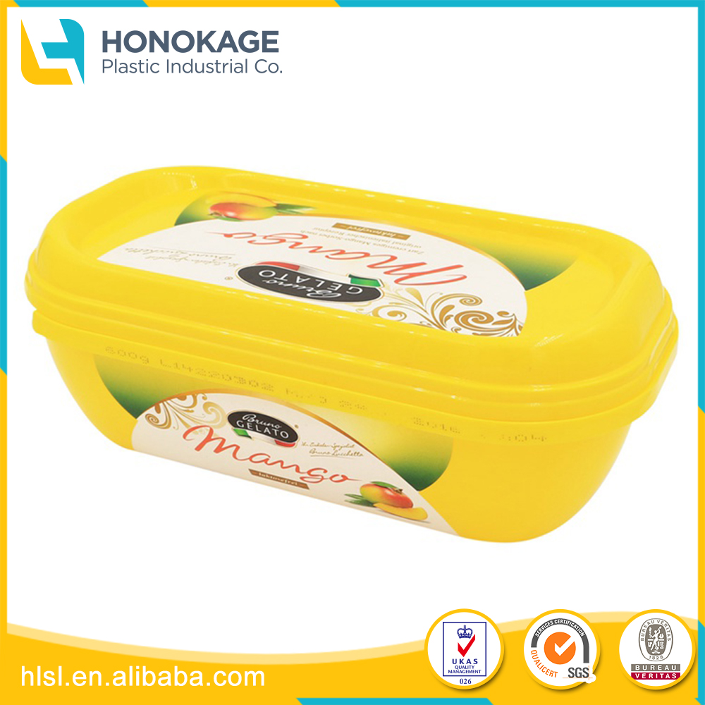 Different Shape 3 oz Plastic Containers with IML Printing, Plastic Storage Container with Lock