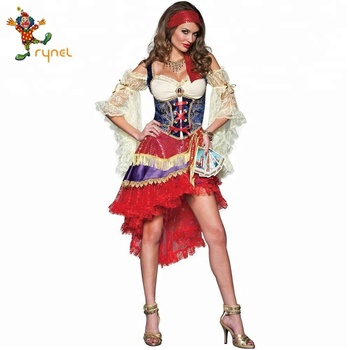 PGWC3612 Hot Sexy Gypsy Clothes Dance Costume Halloween Party Costume For Women