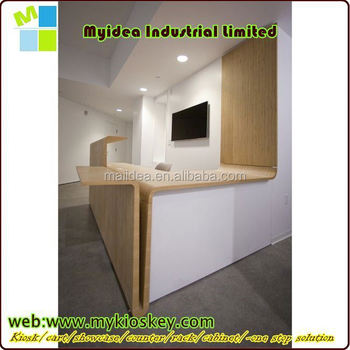 fireproof salon reception desk reception counter modern office reception counter design for hotel - Hotel Front Desk Counter Design