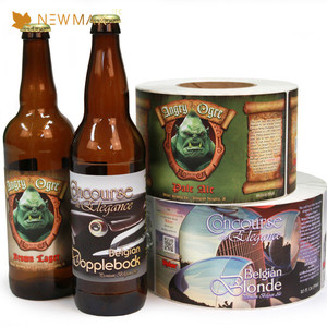 Low Prices Design Free Beer Bottle Paper Laser Sticker Label
