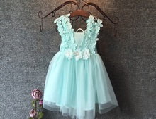 High Quality 2016 XMAS Baby Girl Princess Party Pearl Lace Tulle Flower Gown font b Fancy