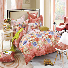 pure cotton fastness printed bed sheet cover/single bed comforter set kitty