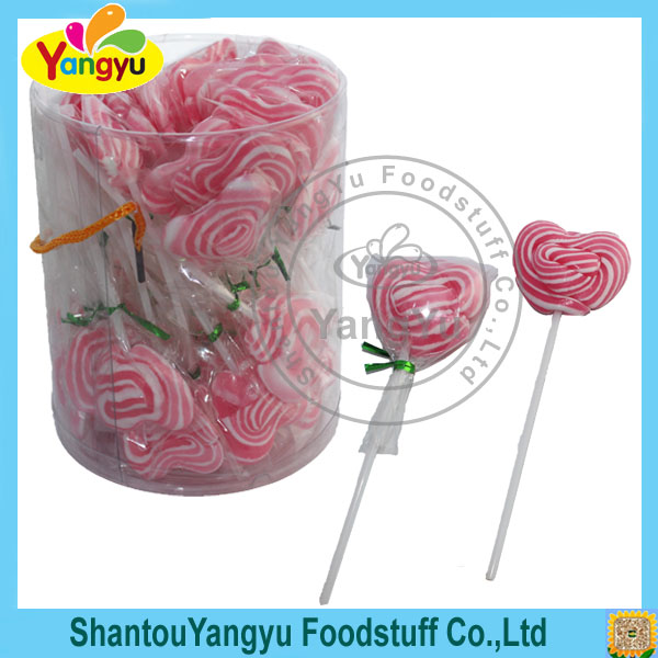 Heart shape love pink Vitamin C lollipop christmas decoration