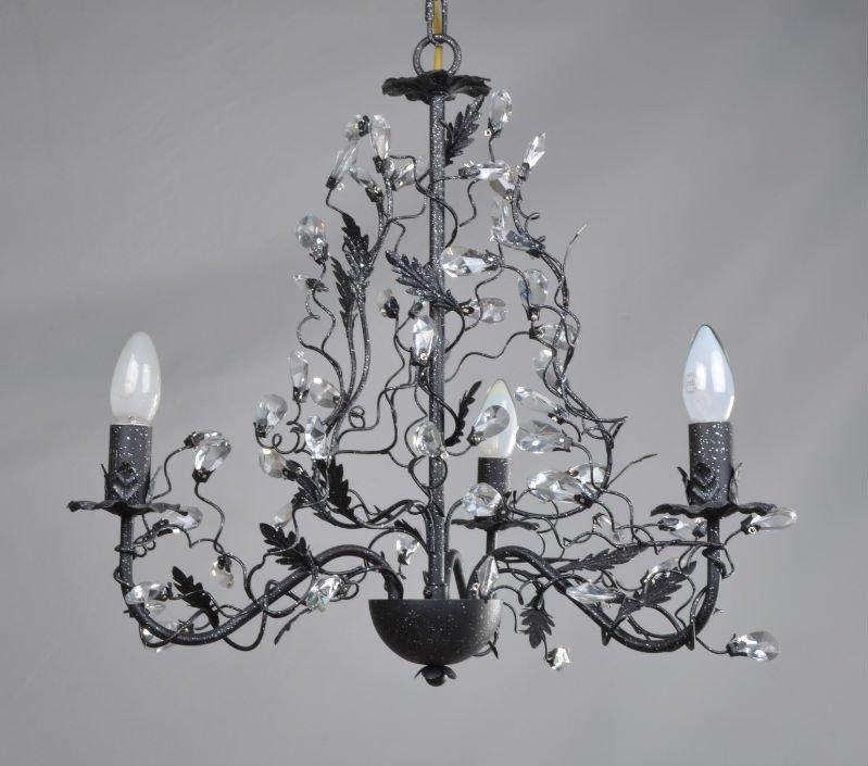 Europe fer peinture noir chambre lustre en cristal lustre for Lustre de chambre