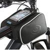 Riding Bike Bag Bicycle Frame Front Tube handlebar Bag with Waterproof Cover Cycling for Smartphone GPS Touch Screen