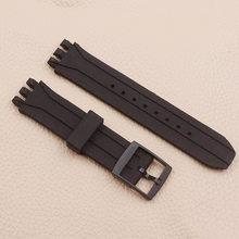 Аксессуары для часов, силиконовый ремешок для мужчин и женщин, 18 мм для Swatch, SUIB400, SUIK400(Китай)