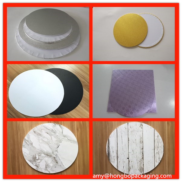 3mm 4mm 5mm 6mm thick round square shape customized MDF Cake board