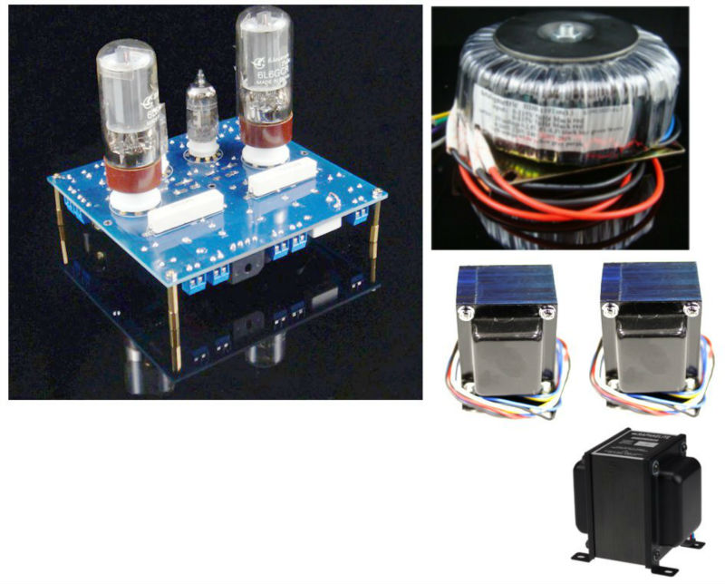 6L6 SE S1 Tube Amplifier 10 10W Complete Kit Stereo