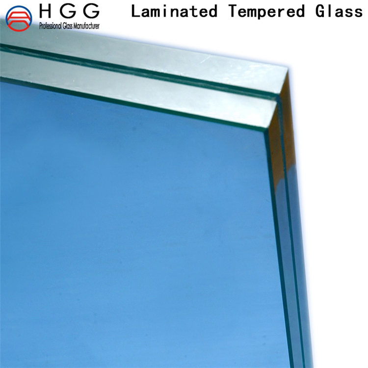 Safety building tempered laminated glass 441 factory price ultra white for stairs /window/curtain wall