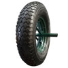 16 inch portable pneumatic wheel for wheelbarrow with a long axle