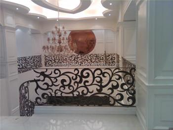 Decoratieve interieur beveiliging metalen balustrade trap buy
