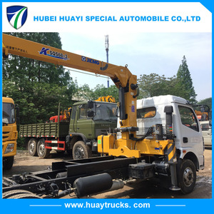 High quality best price small truck crane tipper trucks with crane dump truck with crane