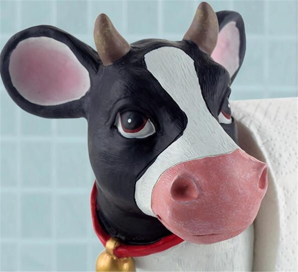 Creatieve trommel keuken papieren handdoek houder, koeien hars ...