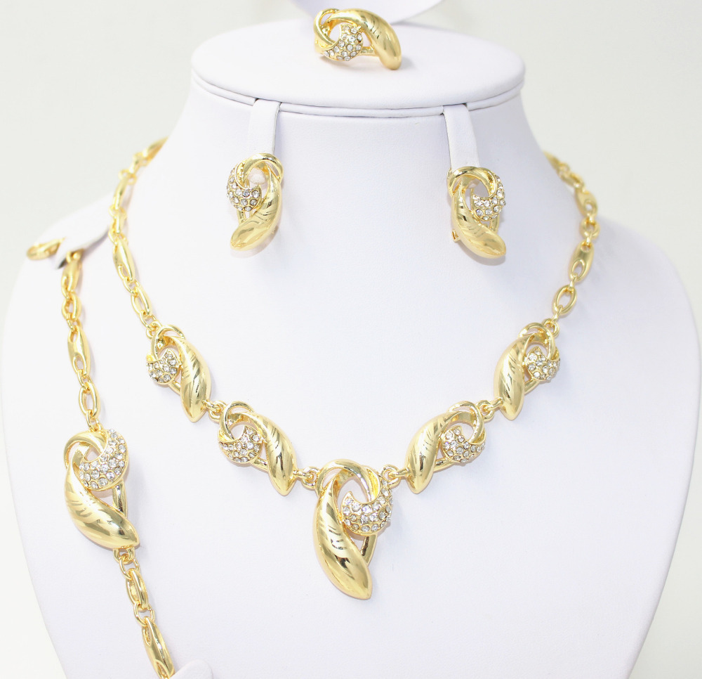 Cheap Gold Wedding Jewelry Set find Gold Wedding Jewelry Set deals