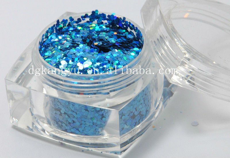 Hexagonal nail art paillette mix glitter powder