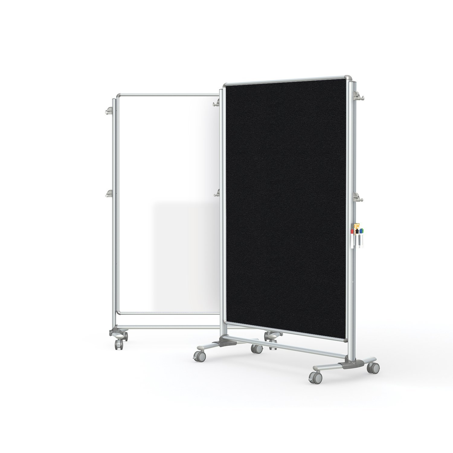 """Ghent 76-1/8"""" x 52-3/8"""" Nexus Partition, Magnetic Whiteboard/Bulletin Board, Double-Sided (NEX224MFP-95)"""